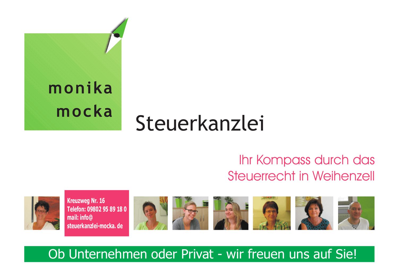 Steuerkanzlei Monika Mocka Ansbach, Nuernberg und Umgebung